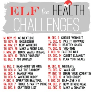 elf for health challenge